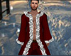 Dark Red Winter Fur Robe