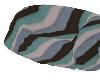 (V) Striped loveseat