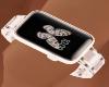 A watch metal light rose