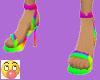 Candy rainbow  heels