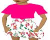 girls floral n pink