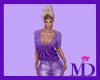 Purple Cardi Top
