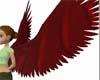 Dark red angel wings