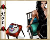 ~H~CupCake Tbl Chair Rug