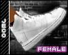 Clean white  kicks F