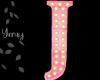 Pink Wood Letter J