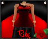 PF ILIANA RED/BLACK GOWN