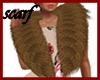 GA7**BrownWinterFurScarf