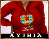 """a"""" Autism Hoody RED"""