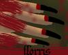 F> BlackRed Nails
