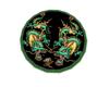 Jaded Dragon Round Rug