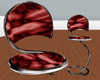 Slinky Silk Stool red