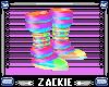 flashy rainbow boots