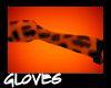Orange Leopard Gloves