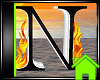 ! Animated Fire Letter N