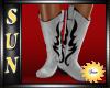 [SUN] White Cowgirl Boot