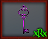 Fancy Key Decor Purple
