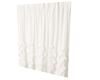 Single white curtain