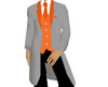 gray tux with orange