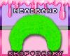 Green Fur Headband