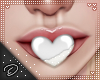 !D! Mouth Heart White