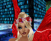 babbs flower wreath red
