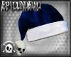 Gothic Blue Santa Hat