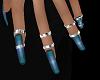 Nails Blue + Rings