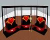 3 love swing chairs