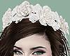 Ivory White Flower Crown