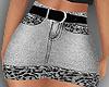 E* Gray Leopard Skirt RL