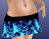 Blue flame mini skirt