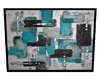 Abstract Teal&Silver Art