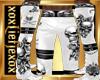 [L] Skull White Pants M