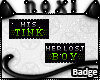 Tink and Lost Boy BADGES