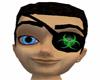 Green Biohazard Eyepatch