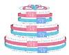 Diaper Cake for Twin G&B