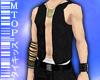 Black Jean Waistcoat