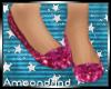 AM:: Pink Glitter Flats