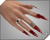 ~AK~ Nails: Silver/Ruby