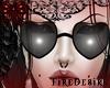 FD Heart Black Glasses