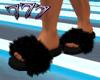 Blk Fur Slides