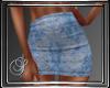 (SL) Paisley Jean Skirt