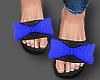 Blue bow slides