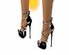 black/white heels