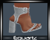 Lola Grey Denim Heels