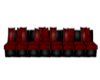 Long Red Goth Couch