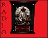 Black red Radio shelf