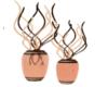 Peach Vases