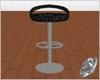 leather bar stool grey